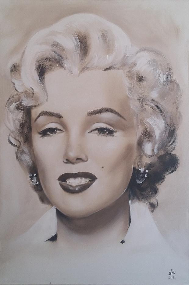 portrait von marilyn monroe 90x60cm lgem lde leinwand signiert sofort versand ebay. Black Bedroom Furniture Sets. Home Design Ideas