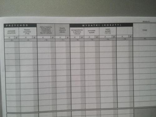 Podatkowa książka księga przychodów i rozchodów A5